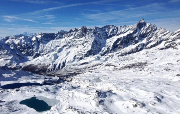 Panorama da Plateau Rosa